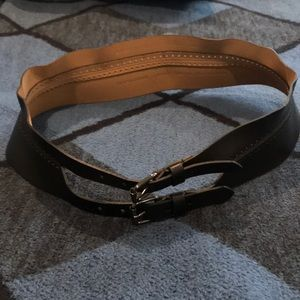 EUC BCBG black corset belt